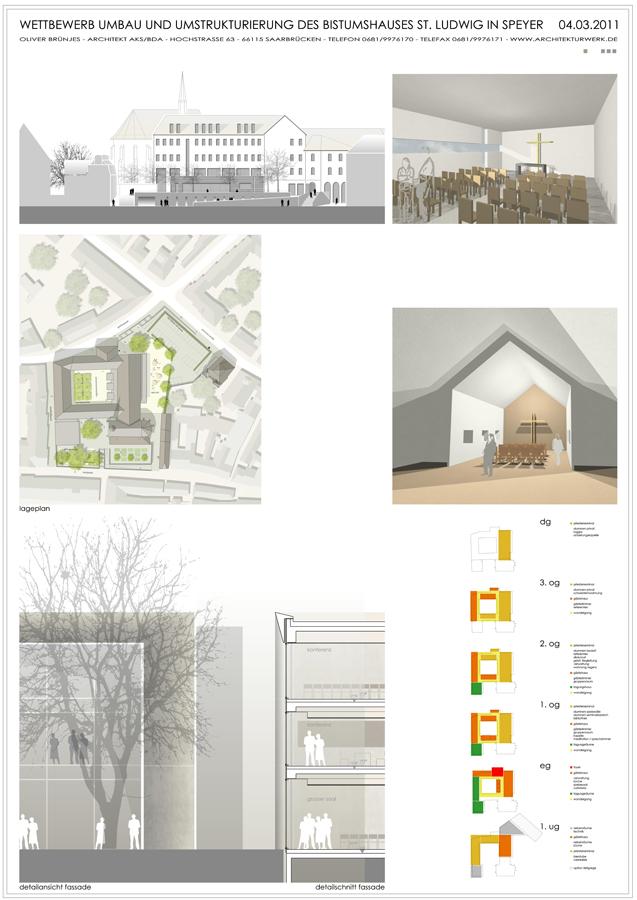 Architekten Speyer bistum speyer 1 preis architekturwerk brünjes architekten